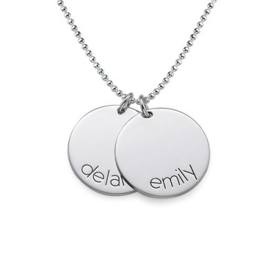 Solid Gold Engraved Kids Disc Necklace