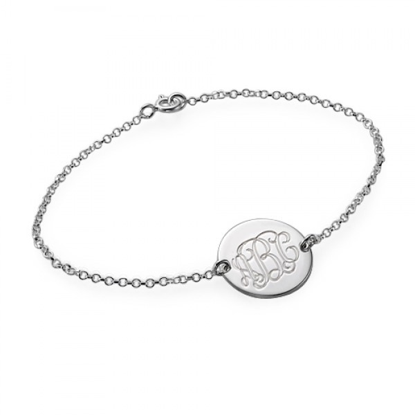 18CT White Gold Monogram Bracelet/Anklet