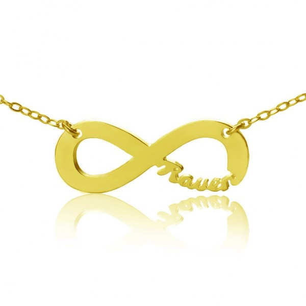 Personalised - 18CT Gold Infinity Name Necklace