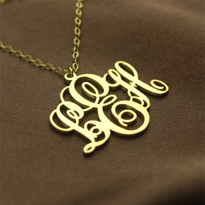 PerfeCT Fancy Monogram Necklace Gift - 18CT Gold