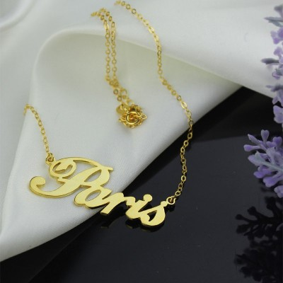 "18CT Gold Plating Name Necklace ""Paris"""
