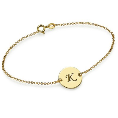 Engraved - 18CT Gold Disc Bracelet/Anklet
