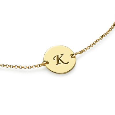 Engraved - 18CT Gold Disc Bracelet/Anklet