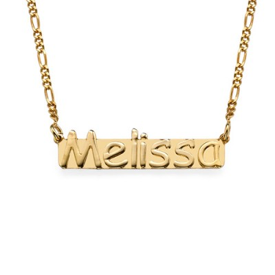 18k Gold 18CT Gold Name Necklace