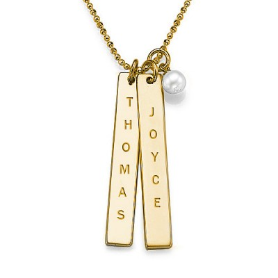 18CT Gold Plating Customised Name Tag Necklace