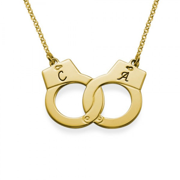 Handcuff Necklace in 18CT Gold Plating