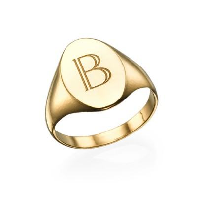 Initial Signet Ring - 18CT Gold