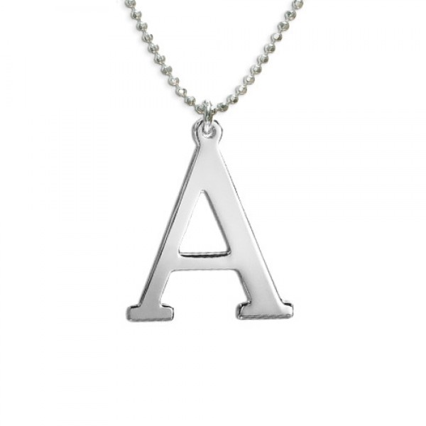 White Gold Initials Necklace