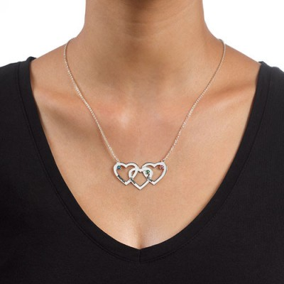 Solid Gold Intertwined Hearts Necklace