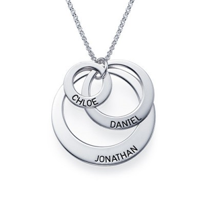 Solid Gold Jewellery for Mums - Three Disc Necklace