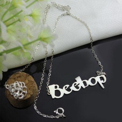 Solid Gold Letter Name Necklace