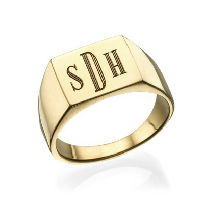 Monogrammed Signet Ring - 18CT Gold