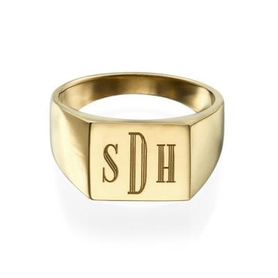 Monogrammed Signet Ring - 18CT Gold