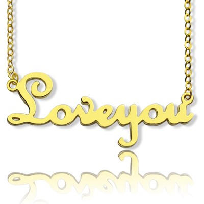 Personalised Cursive Name Necklace - 18CT Gold