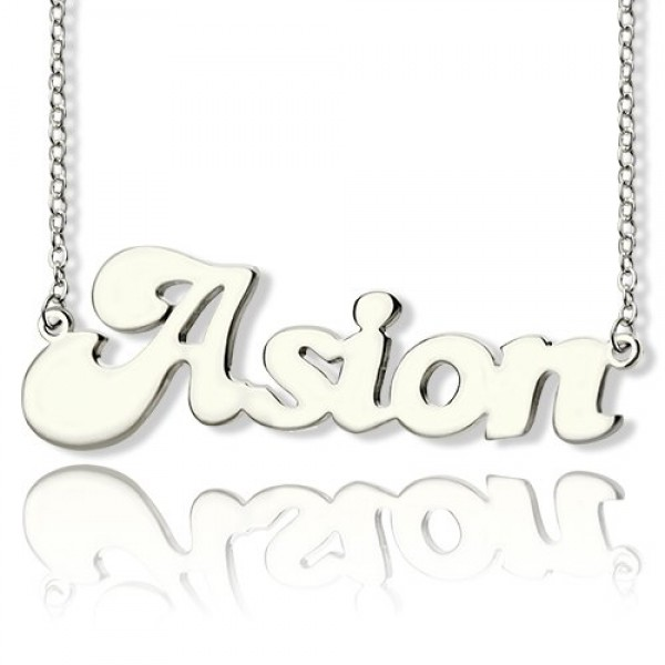 Solid Gold Ghetto Name Necklace