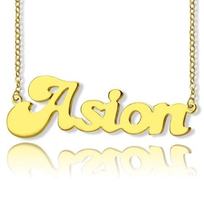 Ghetto Cute Name Necklace - 18CT Gold