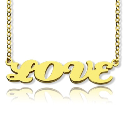 Gold Capital Name Necklace Personalised