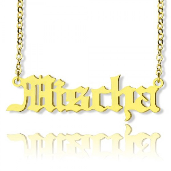 Old English Name Necklace - 18CT Gold