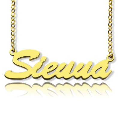 18CT Gold Sienna Style Name Necklace