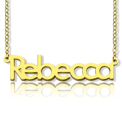Nameplate Necklace 18CT Gold Rebecca Style