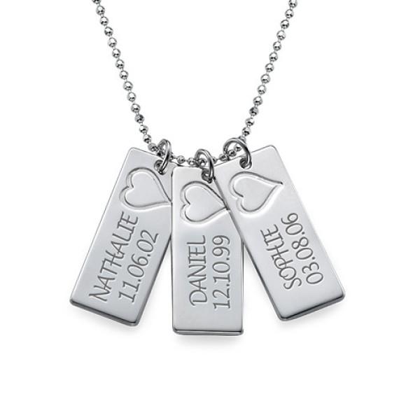 White Gold Name Bar Necklace