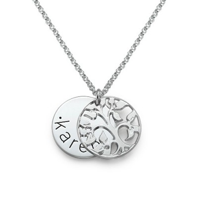 White Gold Personalised Family Necklace