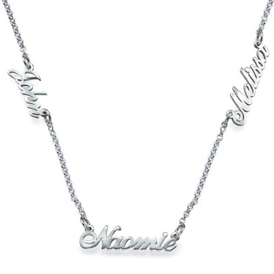 Solid Gold Jewellery for Mums - Multiple Name Necklace