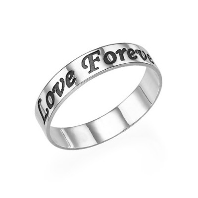 Script 18CT White Gold Promise Ring