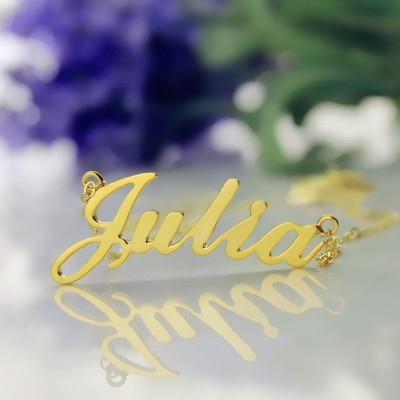 Personalised Classic Name Necklace - 18CT Gold