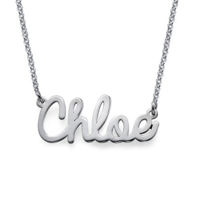 Solid Gold Stylish Name Necklace