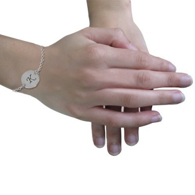 18CT White Gold Initial Bracelet/Anklet