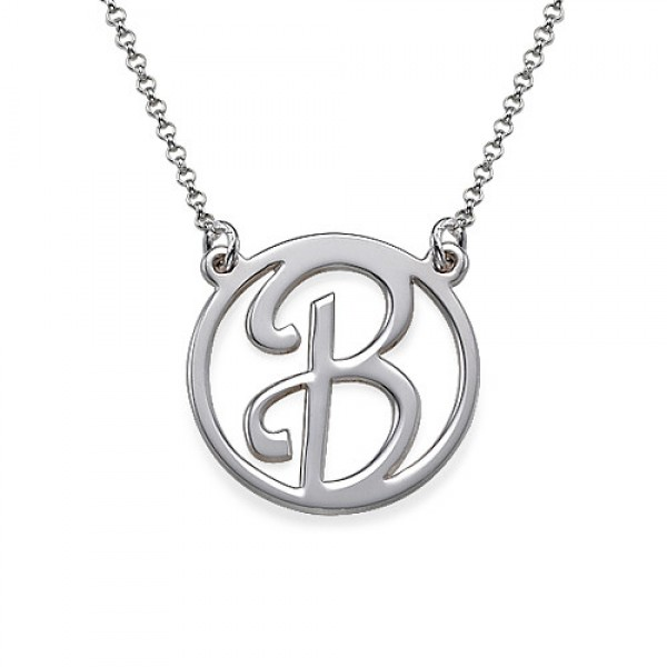 Solid Gold Initial Pendant