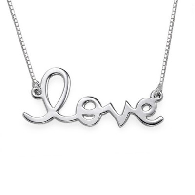 Solid Gold Love Necklace