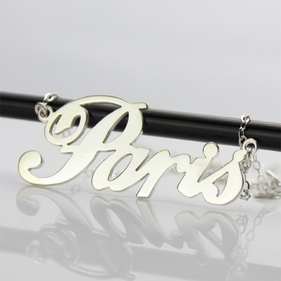 "Custom Name Necklace 18CT Gold ""Paris"""