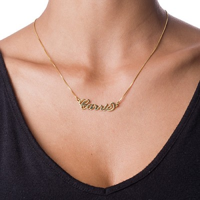 Small 18CT Gold Carrie Name Necklace