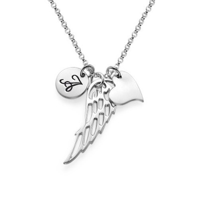 18CT White Gold Angel Wing Necklace