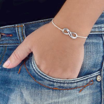 18CT White Gold Engraved Infinity Bracelet/Anklet