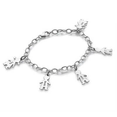 18CT White Gold Engraved Mothers Day Bracelet/Anklet