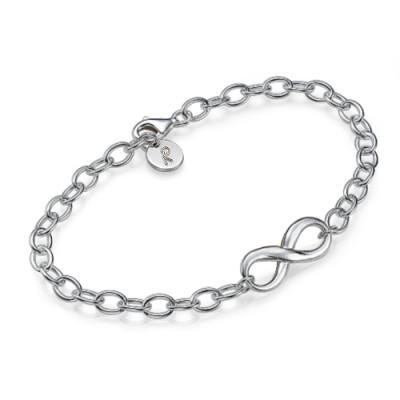 18CT White Gold Infinity Bracelet/Anklet