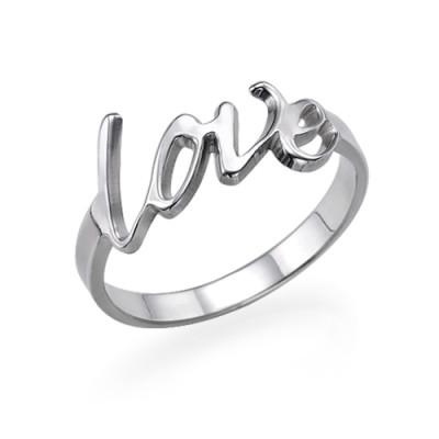 18CT White Gold Love Ring