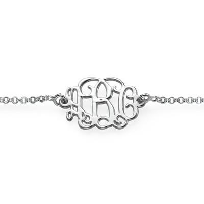 18CT White Gold Initials Bracelet /Anklet
