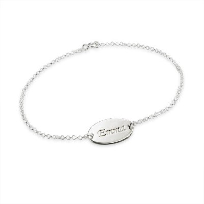 18CT White Gold Personalised Baby Bracelets/Anklet