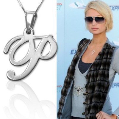 18CT White Gold Initials Pendant With Any Letter