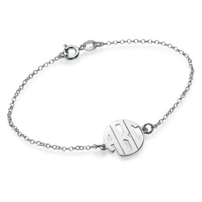 Solid Gold Xtra Small Block Monogram Bracelet/Anklet