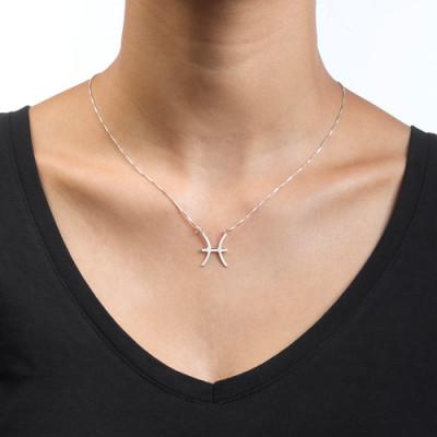 White Gold Zodiac Necklace