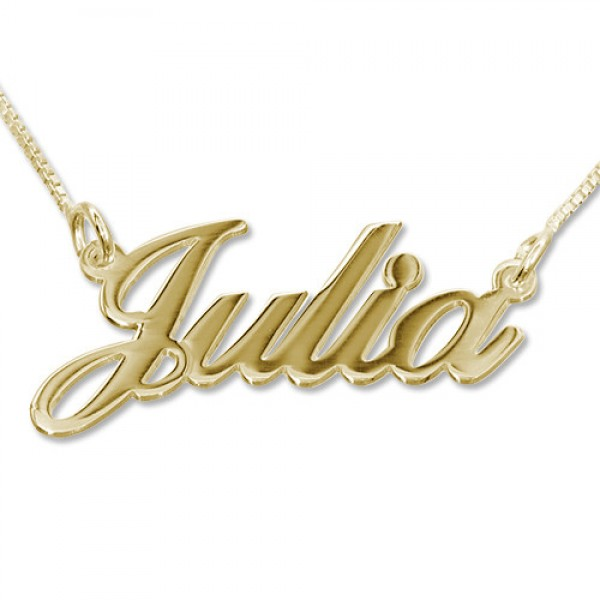 18CT Gold Classic Name Necklace