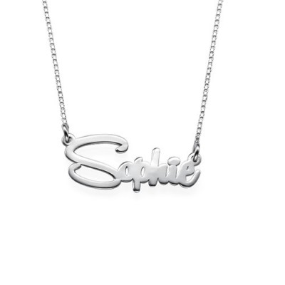 Solid Gold Say My Name Necklace