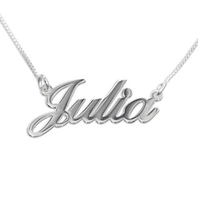 Solid Gold Small Classic Name Name Necklace