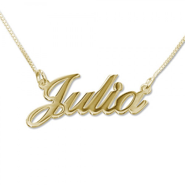Small 18CT Gold Classic Name Necklace