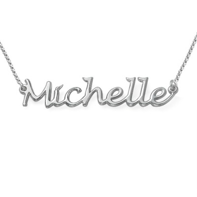 Solid Gold Handwritten Name Name Necklace